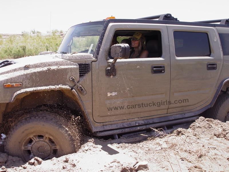 Jet Ski Girls Mud Stuck Hummer H2