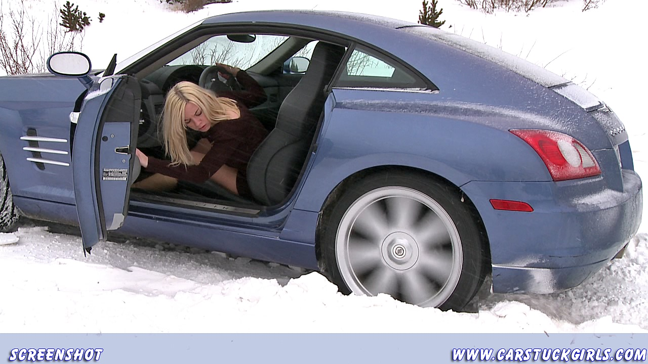 busty girl in snow