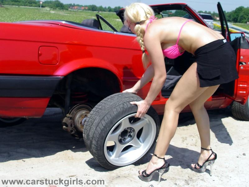 Flat tire girls for pinterest